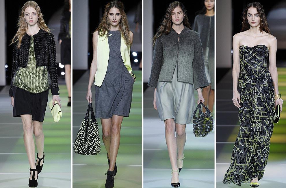 b9ceddead Giorgio Armani (colección otoño-invierno 2014-2015)  Toma nota porque para  finales de año el diseñador italiano nos propone la combinación del color  negro o ...