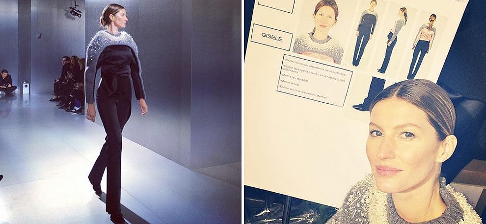 Gisele Bündchen arrasa en la París 'Fashion Week' otoño-invierno 2014-2015