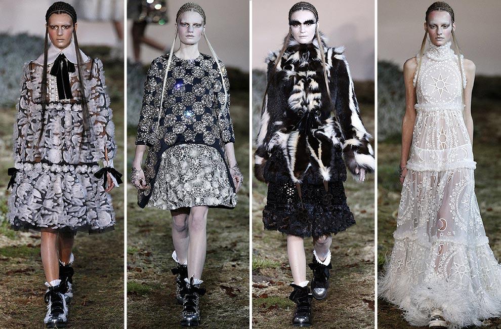 Alexander McQueen, Miu Miu y Hermès, broche de oro a París 'Fashion Week'