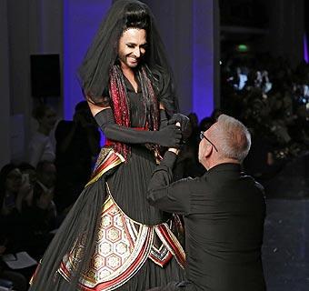 Jean Paul Gaultier se rinde ante el 'fenómeno Conchita Wurst'