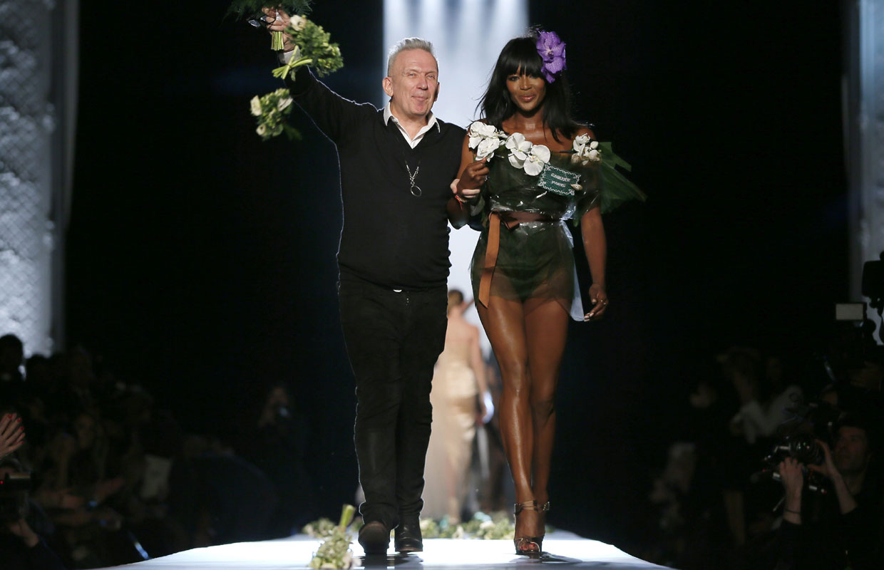 Naomi Campbell, invitada de honor en la boda recreada por Jean Paul Gaultier