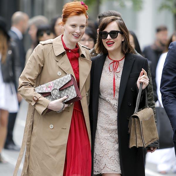 La divertida tarde de Dakota Johnson por Nueva York, junto a la modelo Karen Elson