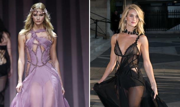 Rosie Huntington-Whiteley, Karlie Kloss, Kendall Jenner... Ellas son las ninfas de Atelier Versace
