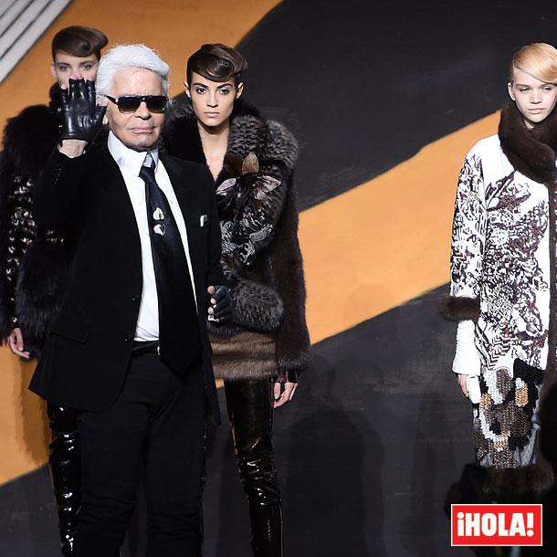 La Alta Costura se rinde a Lagerfeld con un homenaje 'Haute Fourrure'