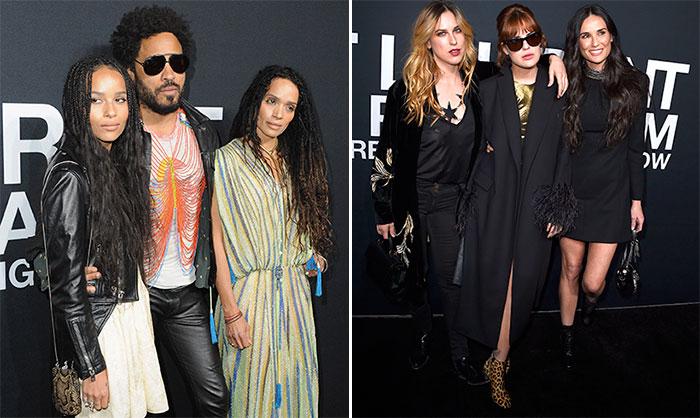 Saint Laurent reúne a las familias más 'glam rock'