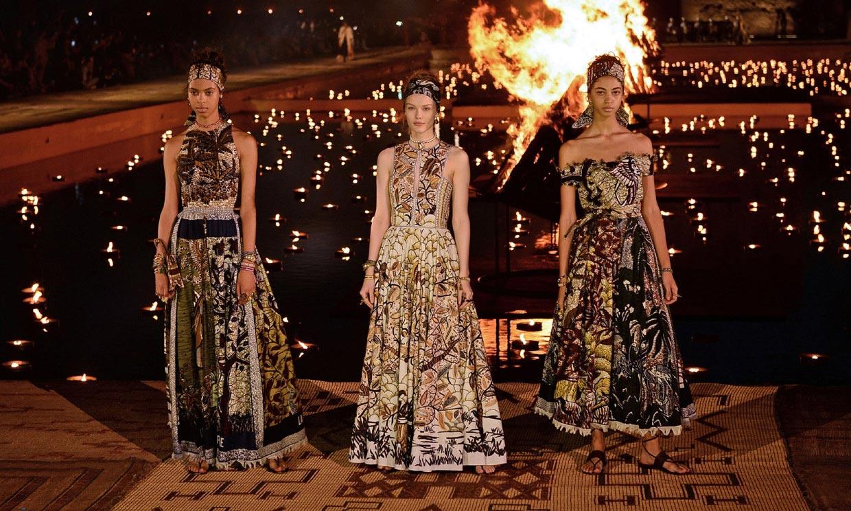 La inspiración africana transforma el 'New look' parisino en la colección Crucero 2020 de Dior