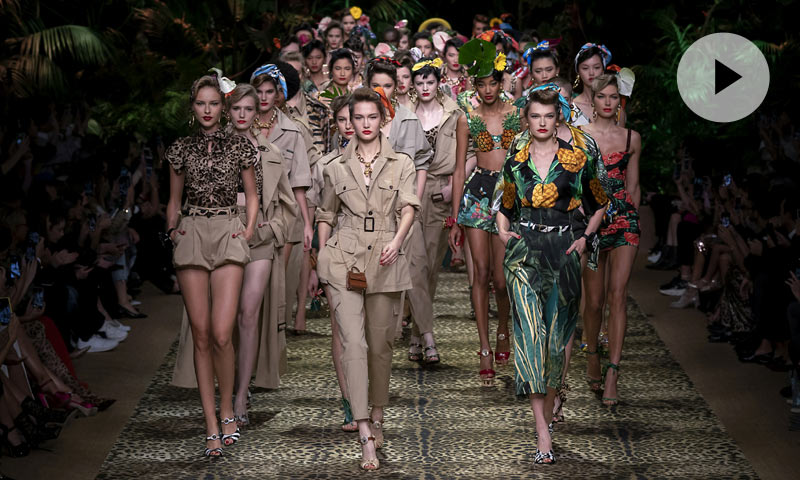 El desfile de Dolce & Gabbana, un apasionante viaje a la jungla