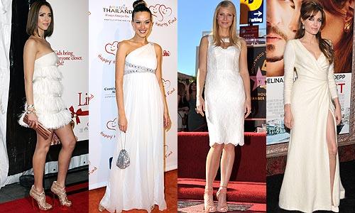 Accesorios para vestido blanco de noche