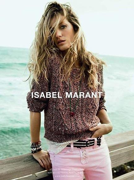 Gisele Bündchen, para Isabel Marant