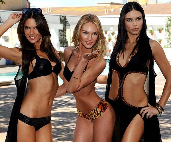 Alessandra Ambrosio, Candice Swanepoel y Adriana Lima, con bañadores y biquinis de Victoria's Secret