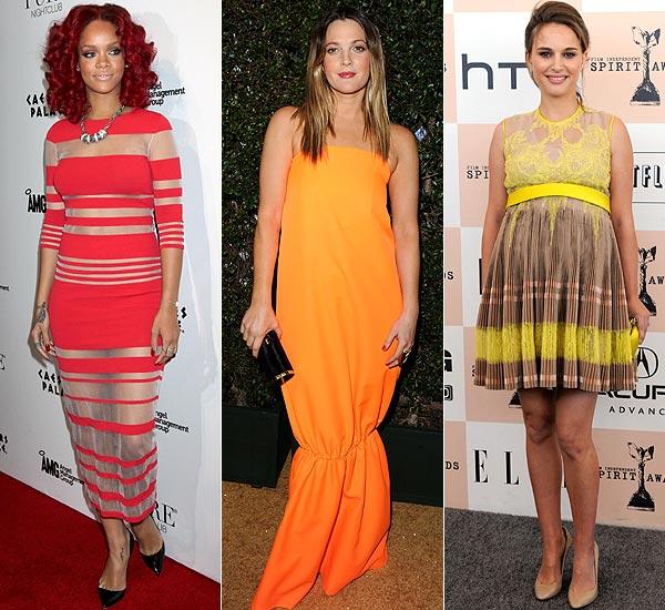 'Celebrity Style': Rihanna, Natalie Portman, Jessica Alba, Drew Barrymore... ¡locas por el flúor!