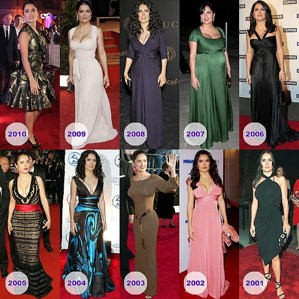 Salma Hayek: la evolución de una estrella de cine con 'glamour' latino