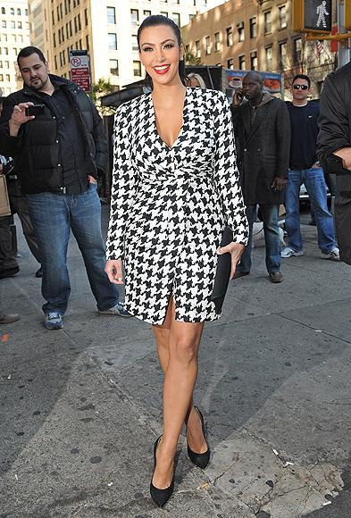 Kim Kardashian, de Salvatore Ferragamo (colección otoño,invierno 2011,2012)