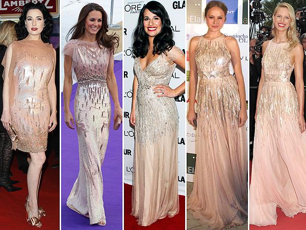 Los favoritos de las 'celebrities': Dita Von Teese, Catherine Middleton, Lea Michele, Karolina Kurkova... 'Princesas' modernas