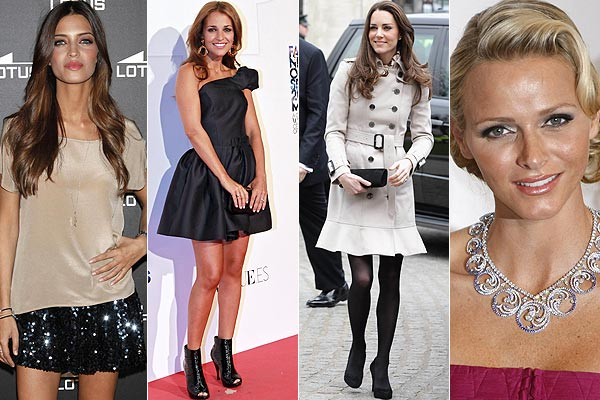 Cuatro estilos, cuatro destacadas mujeres: Sara Carbonero, Catherine Middleton, Charlene Wittstock y Paula Echevarría