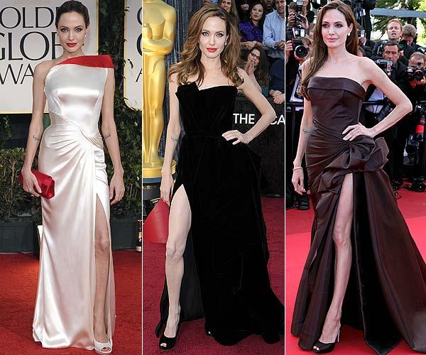 El comentado estilo de Angelina Jolie en los Oscar, tendencia entre las 'celebrities'