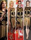 Los favoritos de las 'celebrities': Florence Welch, Anja Rubik, Raquel Sánchez Silva y Evan Rachel Wood se visten de oro