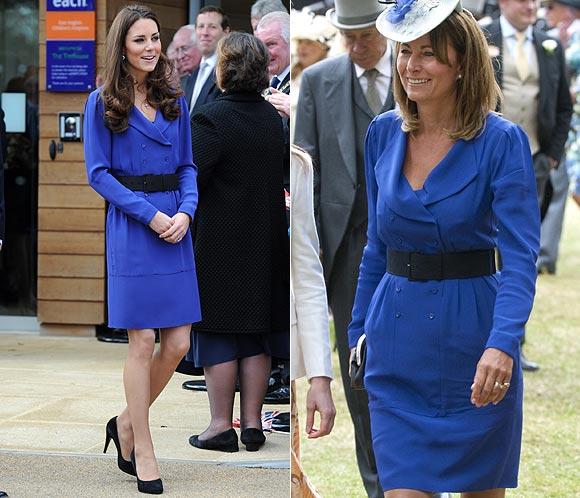 La Duquesa de Cambridge y Carole Middleton reciclan su vestuario