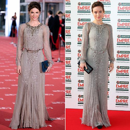 Los favoritos de las 'celebrities': Manuela Velasco y Olivia Wilde, la elegancia de los detalles metálicos