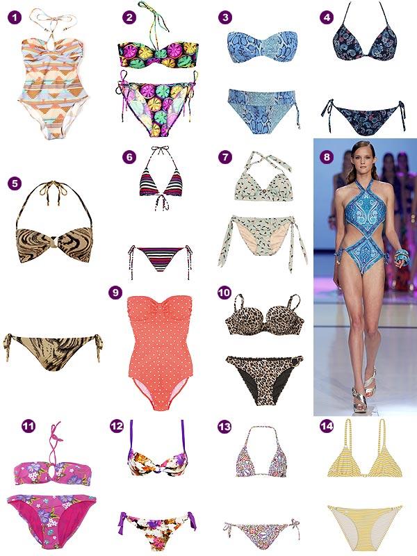 'Mil y un' estampados para los bañadores y bikinis de 2012