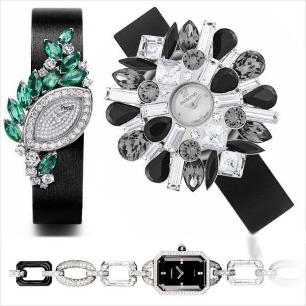 Relojes Piaget, Swarovski y Chanel
