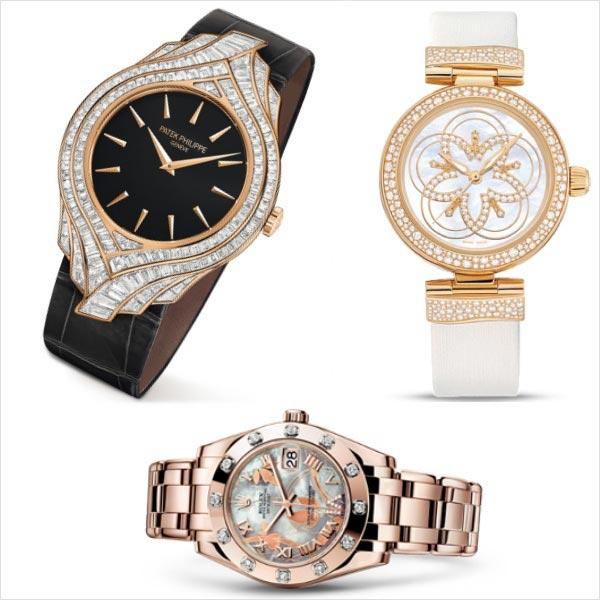 Relojes Patek Philippe, Omega y Rolex