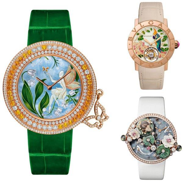 Relojes Van Cleef & Arpels, Bvlgari y Cartier