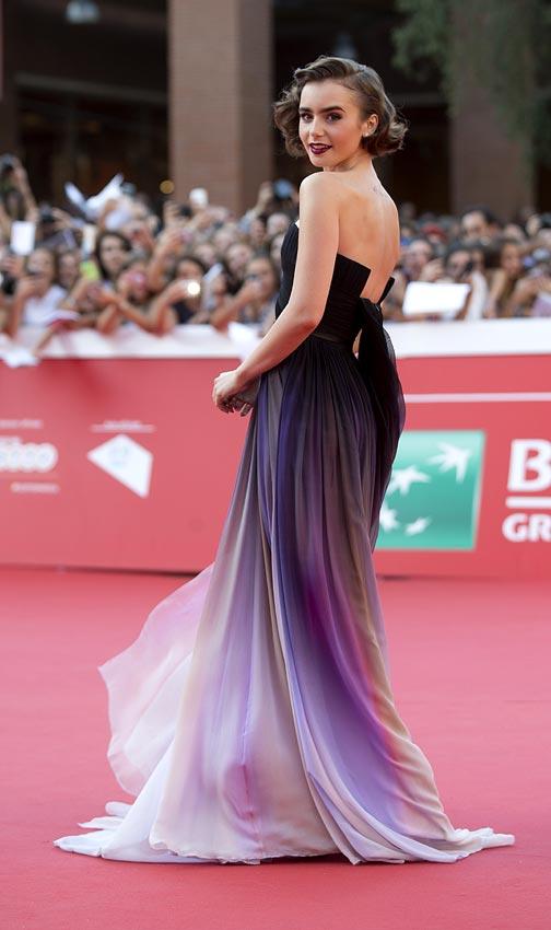 Lily Collins conquista el Festival de Cine de Roma con su simpatía y ...