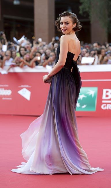 Lily Collins conquista el Festival de Cine de Roma con su simpatía y su 'estilazo'
