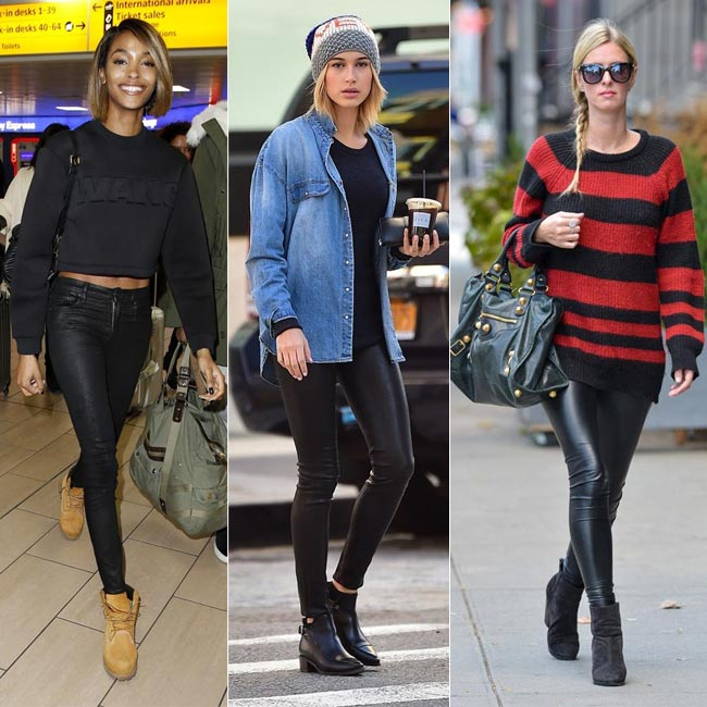 92a17de9515cc Pantalones de cuero  15 estilos