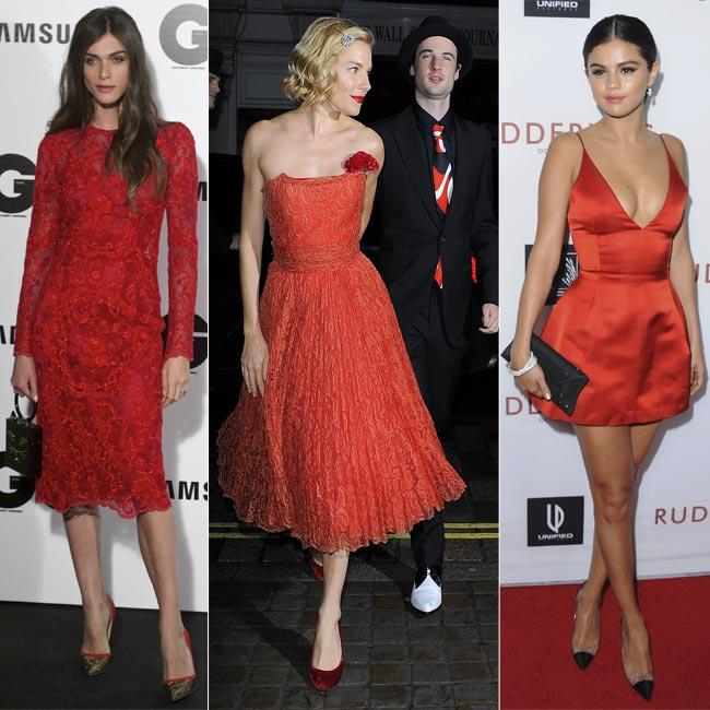 4a18ea8f0a26d Looks  de fiesta  Vestidos rojos