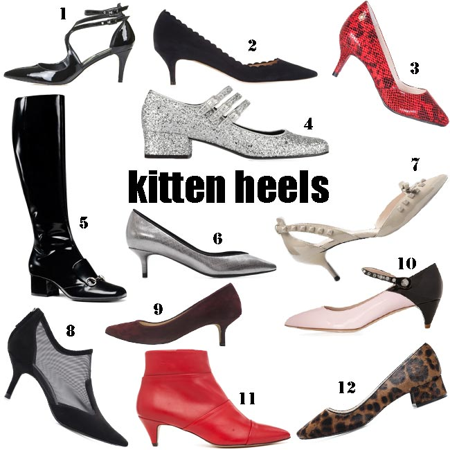 Zapatos Tacon Kitten Heel