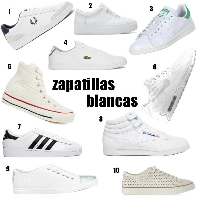 Shopping de zapatillas blancas
