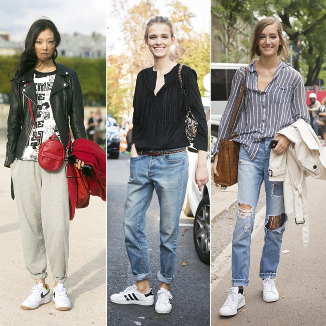 Zapatillas blancas y looks effortless