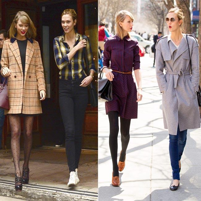 ¡Duelo de estilo! Karlie Kloss 'vs.' Taylor Swift