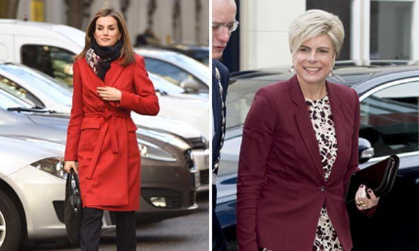 'Royals chic': Estilismos 'total look' y tonos rojizos vs. neutros, ¿qué tendencia lleva cada una en palacio?