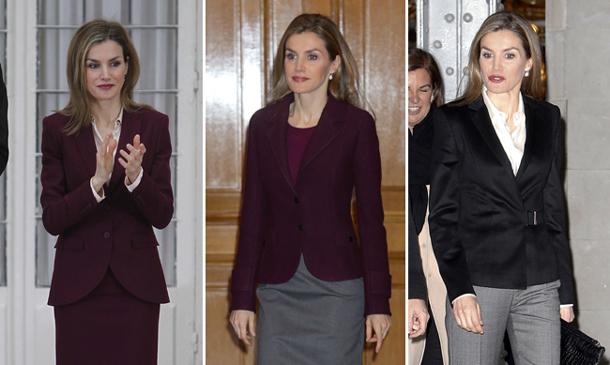 Doña Letizia y su 'juego de tonos' y la falda que ha conquistado a la realeza