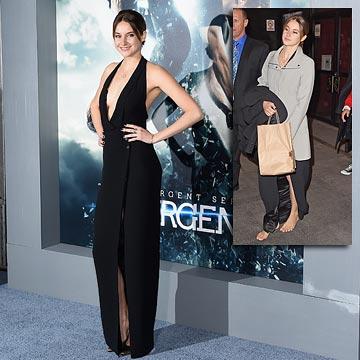 Las 'dos caras' de Shailene Woodley: estilosa sobre la alfombra roja, espontánea y rebelde a pie de calle