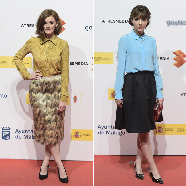 A la izquierda Ana Polvorosa y a la derecha Leticia Dolero luciendo ropa vintage