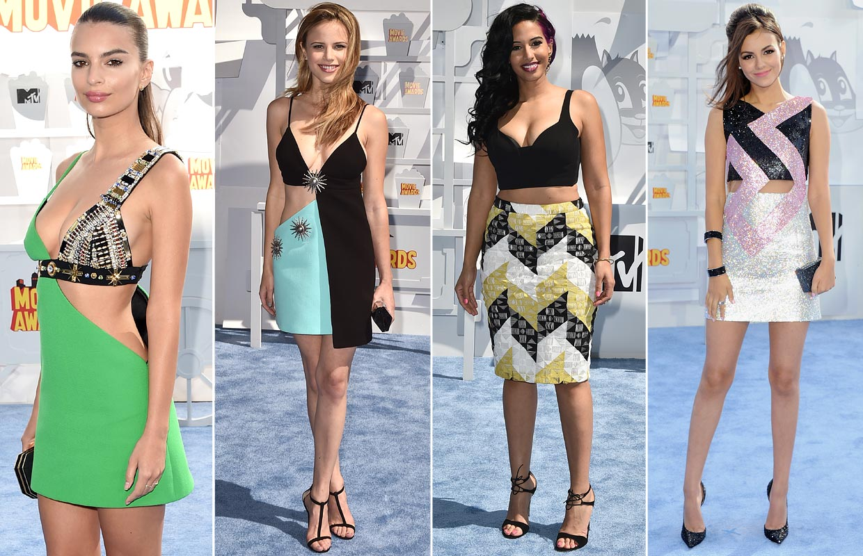 Detalles 'fashion' sobre la 'alfombra roja' de los MTV Movie Awards 2015
