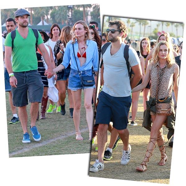 Diane Kruger y su 'Coachella style': ¿Quieres ser como ella?