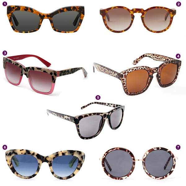 b54870ed73 Gafas de sol 'animal print', para una primavera salvaje