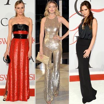 Transparencias, 'red passion', estampados 'arty'... ¿Cómo han vestido las invitadas a los 'Oscar de la moda' 2015?