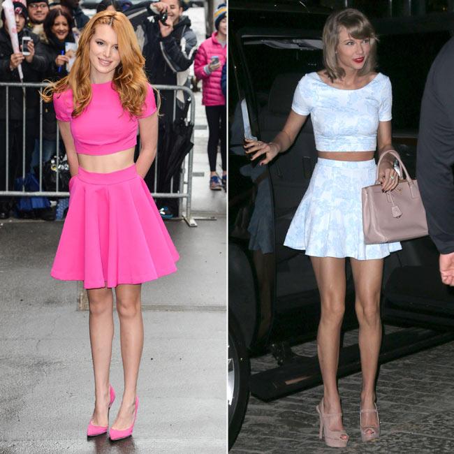 Total look  Cómo llevar un 'crop top' coordinado con falda o pantalón 6fa49500ef62