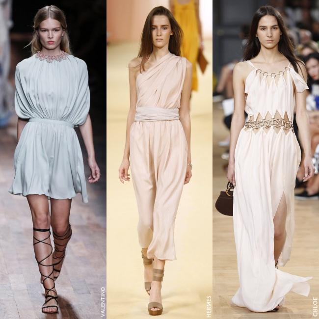 Vestidos inspiracion griega cortos