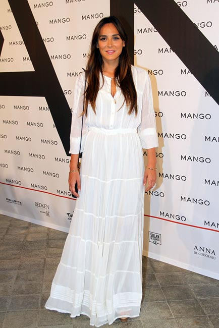 Tamara Falcó, con la tendencia de la 080 Barcelona Fashion