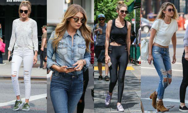 Todos los secretos del armario de Gigi Hadid, la modelo 'sporty'