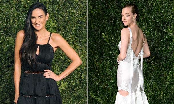 ¿Blanco o negro?: Demi Moore y Amanda Seyfried conquistan la noche neoyorquina