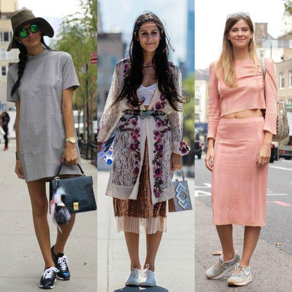 Ponerse falda con zapatillas deportivas: ¿sí o no?