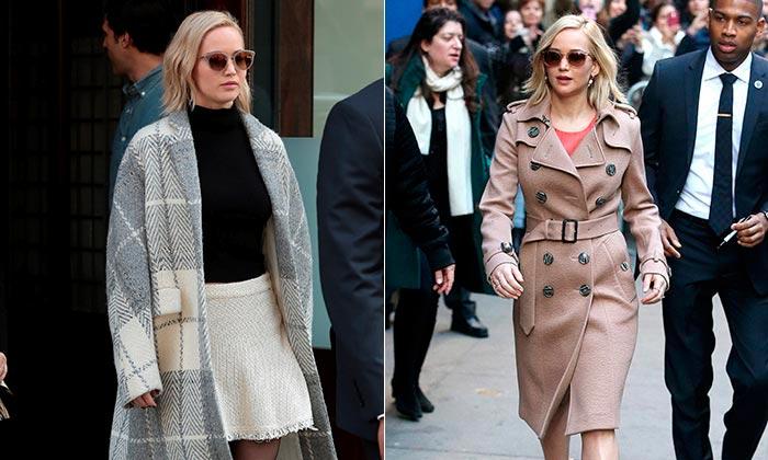 Jennifer Lawrence: 'All I want for Christmas is'… ¡un abrigo!